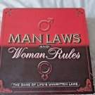 Man Laws and Woman Rules The Game of Life's Unwritten Laws Adult Game