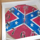 "Wall Clock 12"" Round Southern Flag Confed History Battery"