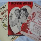 Vintage Sheet Music 1939 -1947 -1956 The Dickey-Bird Song A Thousand Violins