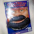 Beard  Black Mustache & Beard Biker Tough Guy Tape to Stick On