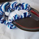 Steering Wheel Cover Blue and White  Print Keep Hands Warm in Winter