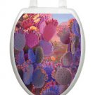 Toilet Tattoos Toilet Seat Lid  Decor Desert Creations  Vinyl Reusable Blue Pink