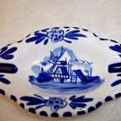 Smoking Tray Delft Blue and White Windmill Holland Teabag Holder