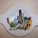 Berlin Porcelain Smoking Tray Ashtray Souvenir White Teabag Holder