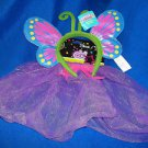 Costume Butterfly Girls Play Wings and Antenna with Skirt   Pink Green Purple