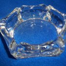 """Smokers Tray Glass  Hexagon  4 1/2"""" Clear Glass Smokers or Bedside Table"""