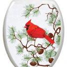 Toilet Tattoos Winter Cardinal Removable Vinyl Decor #1095