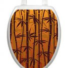 Toilet Tattoos Bronzed Bamboo  Brown Bathroom Seat L  Decoration Vinyl Removable