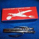 Camping Tool Stainless Steel Opener Knife Spoon Reamer Fork Corkscrew  210844-6