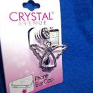 Charm Angel Cell Phone  Silver  Tone Rhinestones