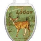 Toilet Tattoos Toilet Lid Cover  Decor Deer Lodge Reusable  Vinyl Free Shipping