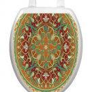 Toilet Tattoos Medallian Lid Cover  Decor  Reusable Vinyl