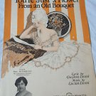 Vintage Sheet Music 1924 You're Just a Flower From An Old Bouquet  Gwynn Denni