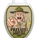 Toilet Tattoos Toilet Lid Cover  Decor Private Put Lid Downs Reusable Vinyl