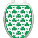 Toilet Tattoos Irish Shamrocks Vinyl Resuable Decor for Seat Lid Reusable