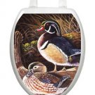 Toilet Tattoos Wood Ducks  Seat Lid Decoration  Vinyl  Reusable Ships Free