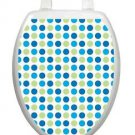 Toilet Tattoos Toilet  Lid  Decor Dot to Dot  Blues #1401 Removable Vinyl