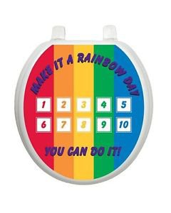 Toilet Training Game Rainbow Colors with Stickers Free Shipping Toilet Tattoo