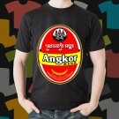 New Angkor Beer Promo Brewery Black T-Shirt Tee Size S - 3XL