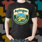 New Ayinger Privat Brauerei Beer Promo Brewery Black T-Shirt Tee Size S - 3XL