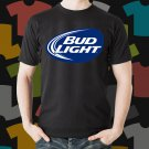 New Bud Light 1 Beer Promo Brewery Black T-Shirt Tee Size S - 3XL