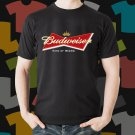 New Budweiser Beer Promo Brewery Black T-Shirt Tee Size S - 3XL
