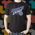 New Busch Light Beer Promo Brewery Black T-Shirt Tee Size S - 3XL