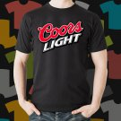 New Coors Light Beer Promo Brewery Black T-Shirt Tee Size S - 3XL