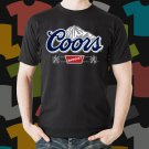 New Coors Light Banquet 1 Beer Promo Brewery Black T-Shirt Tee Size S - 3XL