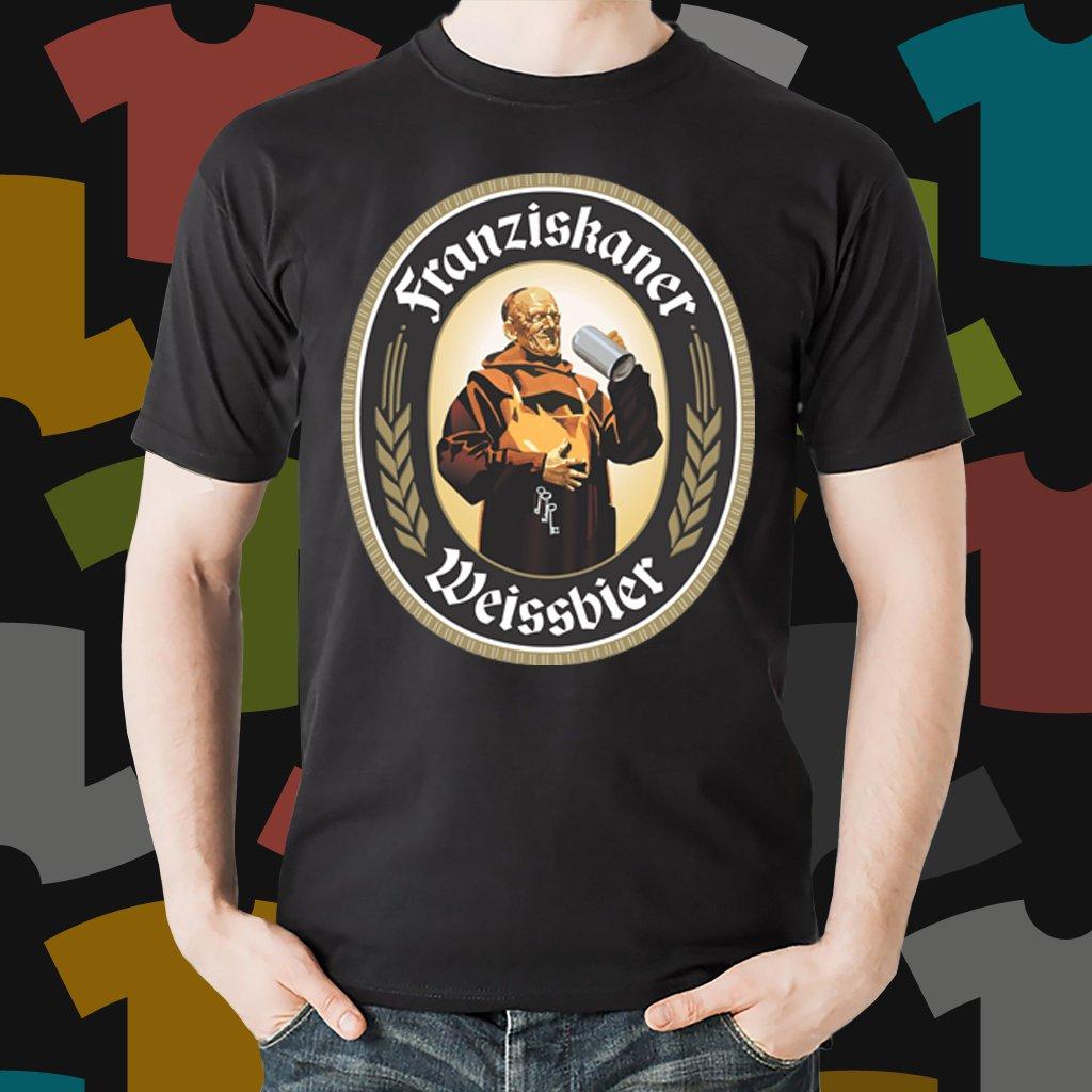 New Franziskaner Beer Promo Brewery Black T-Shirt Tee Size S - 3XL