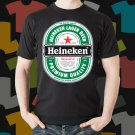 New Heineken 2 Beer Promo Brewery Black T-Shirt Tee Size S - 3XL