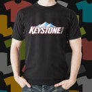 New Keystone Beer Promo Brewery Black T-Shirt Tee Size S - 3XL