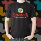 New Kingfisher 1 Beer Promo Brewery Black T-Shirt Tee Size S - 3XL