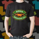 New Kona Beer Promo Brewery Black T-Shirt Tee Size S - 3XL