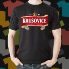New Krusovice Beer Promo Brewery Black T-Shirt Tee Size S - 3XL