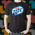 New Miller Lite Beer Promo Brewery Black T-Shirt Tee Size S - 3XL