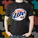 New Miller Lite 3 Beer Promo Brewery Black T-Shirt Tee Size S - 3XL