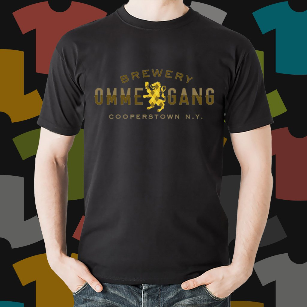 New Ommegang 1 Beer Promo Brewery Black T-Shirt Tee Size S - 3XL