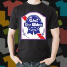 New Pabs Blue Ribbon 1 Beer Promo Brewery Black T-Shirt Tee Size S - 3XL