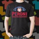 New Peroni Nastro Azzurro Beer Promo Brewery Black T-Shirt Tee Size S - 3XL