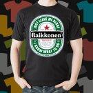New Raikkonen Beer Promo Brewery Black T-Shirt Tee Size S - 3XL