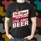 New San Miguel Beer Promo Brewery Black T-Shirt Tee Size S - 3XL