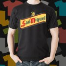 New San Miguel 1 Beer Promo Brewery Black T-Shirt Tee Size S - 3XL