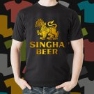 New Singha Beer Promo Brewery Black T-Shirt Tee Size S - 3XL