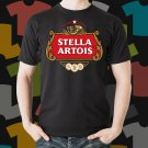 New Stella Artois Beer Promo Brewery Black T-Shirt Tee Size S - 3XL