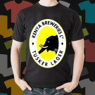 New Tusker Lager Kenya Breweries Beer Promo Brewery Black T-Shirt Tee Size S - 3XL