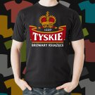 New Tyskie Beer Promo Brewery Black T-Shirt Tee Size S - 3XL