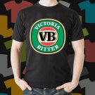 New Victoria Bitter Beer Promo Brewery Black T-Shirt Tee Size S - 3XL