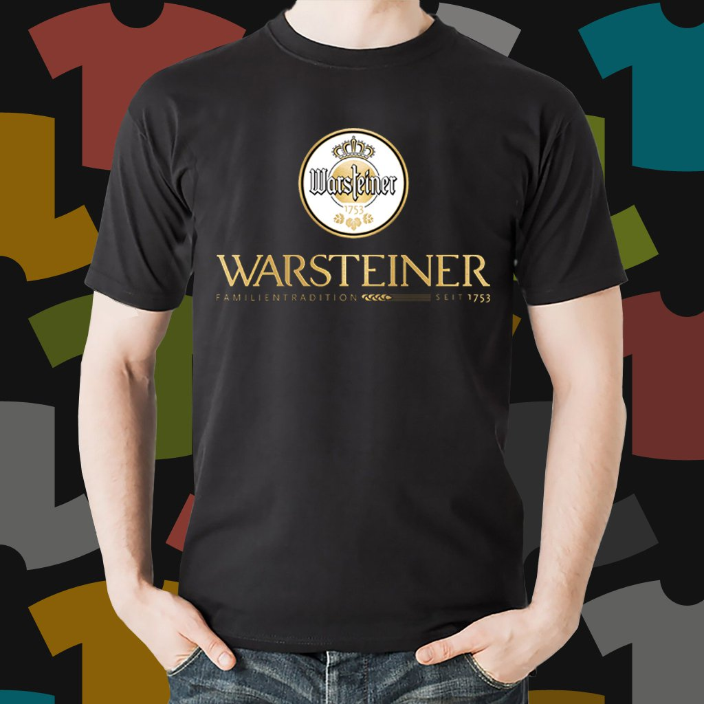 New Warsteiner Beer Promo Brewery Black T-Shirt Tee Size S - 3XL