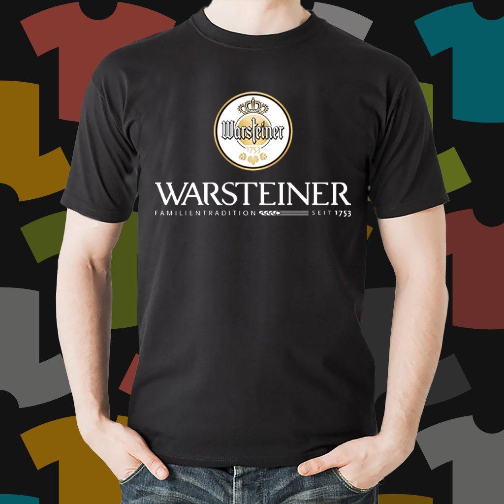 New Warsteiner 1 Beer Promo Brewery Black T-Shirt Tee Size S - 3XL